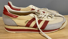 Vintage adidas Originals Orion Taiwan Red Sneakers 1980s Deadstock Nos Women's