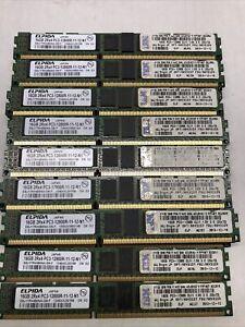 Lot Of 30 Elpida/IBM  OPT:90Y3157 FRU:90Y3159 2Rx4 PC3-12800R Server Memory