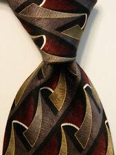 VALANT NECKWEAR Men's 100% Silk Necktie Designer Geometric Multi-Colored EUC