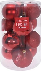 Large Xmas Christmas Tree Ornament Gift Baubles Decoration Pack