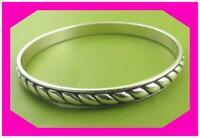 BRIGHTON SOUTHWEST DREAM PLAZA FLAT Twirl Silver BANGLE Bracelet PRELOVED