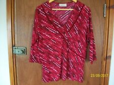 Lovely red mix top by Ann Harvey,  SZ 16