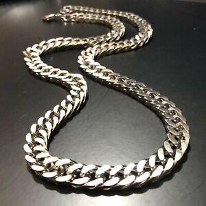 Collana catena in acciaio inox da uomo grumetta punk rapper argento 45 50 55 cm