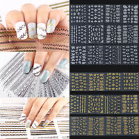 Sexy 3D Flower Lace Nail Stickers Manicure Decals Stamping Nail Art DIY Tools