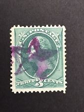 GandG US Stamps #147 Washington 3c Fancy Cancel Magenta Star