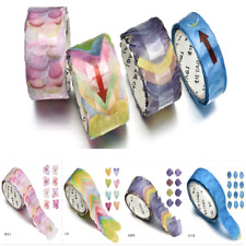200PCS DIY Covering Scrapbook Sticker Sticky Paper Flower Petals Tape Washi Tape