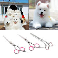 Professional Pet Grooming Scissors Shear Hair Cutting Set Curved Tool Kit