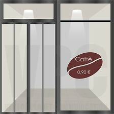 wall sticker adesivo vetrine bar caffè chicchi coffee aperitivo vetri muri