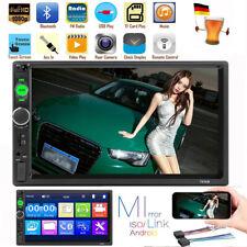 "7"" Bluetooth Autoradio 2 DIN Touch Screen Stereo MP5 MP3 Media Player USB FM IT"