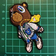 Kanye West dropout bear Iron On Patch embroidered UK SELLER