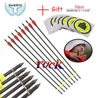 Hunting Archery Bolts 82cm Glass Fiber Fishing Arrow for Compound Recurve Bow
