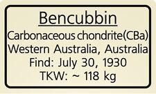 Meteorite label Bencubbin