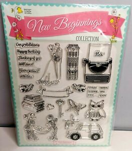 Clear Impressions The New Beginnings Collection Clear Rubber Stamps New, sealed