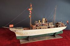 MODEL BOAT STEAM ALFONSO XIII. WOOD AND METAL. SPAIN (?)FIRST THIRD 20TH CENTURY