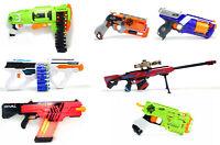 NERF Lot of 7 Pistols Machine Guns Riffle Shotgun Toys Darts