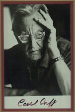 Carl Orff Signed Photograph Framed