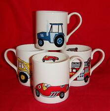 BN Personalised Boxed Child's Fine Bone China Mug, Tractor, Fire Engine, Car Mug