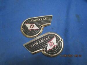 NOS Vintage Kawasaki Tank Emblems, Late 60's Early 70's W1 W2 # 56013-006   K336