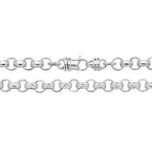 Massiver Sterling Silber programmiert Bracelet uni & gemustert 32 Gramm 9mm -