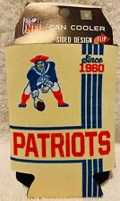 New England Patriots Vintage Tin Nfl Football Can Cooler 2 sided since 1960
