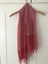 Ladies Scarf Shawl, red colour check pattern
