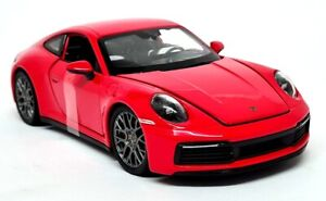 Nex Models 1/24 Scale - Porsche 911 Carrera 4S 911 992 Red Diecast model car