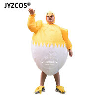 Chicken Costume for Men Women Inflatable Party Cosplay Dress Easter Blow Up Suit