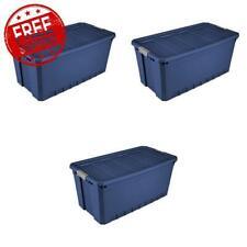 Sterilite 50-Gallon Stacker Tote, Stadium Blue - Case of 3