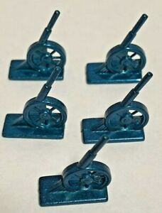 Diplomacy Board Game England Lot of 5 Dark Blue Cannons Replacement Parts