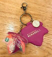 New Starbucks China 2017 Autumn Maple Leaves MSR Purple Card With Keychain