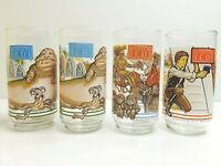 4 Star Wars Return of the Jedi Jabba Leia Ewoks C3PO Han Solo 1983 BK Cola Cola