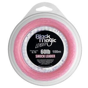 Black Magic Pink Shock Leader Fishing Line - Mono Leader Line