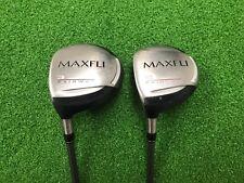 NICE Maxfli Golf BLUE MAX Fairway 3 & 5 WOOD SET Left Handed LH Regular Used