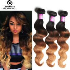 50g/Bundle Human Hair Ombre 3 Tone Brazilian Body Wave Virgin Hair Weft 1B/33/27