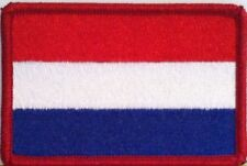 Kingdom of Netherlands Flag Tactical Patch With VELCRO® Brand Red Border #4