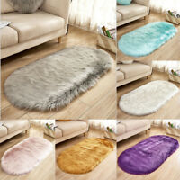 New Anti-Skid Soft Fluffy Rugs Shaggy Area Rug Bedroom Carpet Floor Mat Home