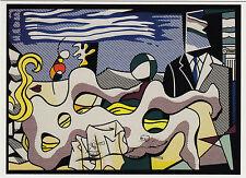 Kunstpostkarte / Postcard - Roy Lichtenstein:  Reclining Nude / Liegender Akt