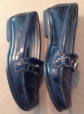 Rockport Leather Loafers Size 7M Black/Silver Normal Wear