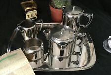 Old Hall Cumberland Tea Set Stainless Steel Inc Tray & Original Receipt  Perfect