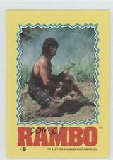 1985 Topps Rambo: First Blood Part II Stickers #6 Non-Sports Card 1i6