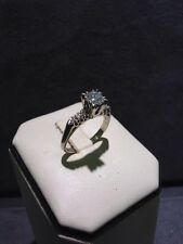 Beautiful 14K White Gold Ladies Diamond Vintage Engagement Ring