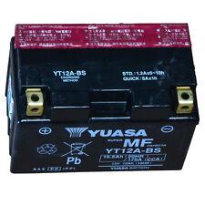 Yuasa YT12A-BS Sans Entretien AGM Batterie de moto pour APRILIA TUONO 1000 / RSV