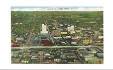 ABILENE TX TEXAS Vintage Aerial View 1952 Postcard