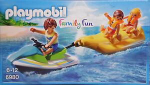 Playmobil 6980 Jetski mit Fahrer, Banana-Boot 2 Kinder mit Schwimmwesten NEU NEW