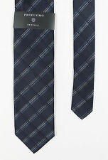 Profuomo - Multi Blue Patterned Silk Tie - One Size - *NEW WITH TAGS* RRP £42