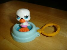 2008 McDonald's Happy Meal toy LPS Littlest Pet Shop #3 White Swan in blue pool