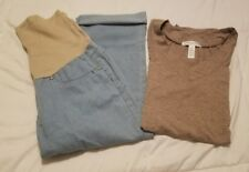 Maternity Capris & T-Shirt ~ Size Large