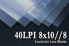 Flip Lenticular Lens Blanks from VueThru! 8x10 Lines - Short Side. (Qty: 25)
