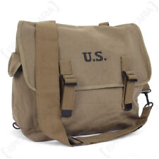 US M1936 Musette Bag and Strap - Olive Drab - American Army M36 Repro