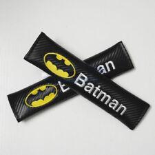 Carbon Fiber Batman Logo Car Seat Belt Cover Shoulder Cushion Styling Auto Parts